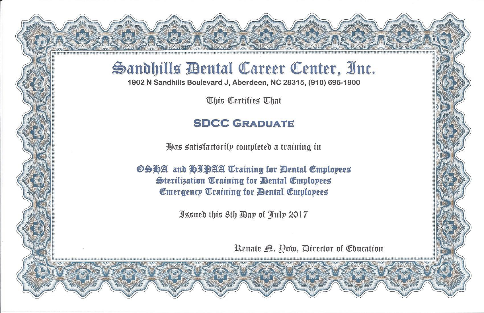 Course description sandhills dental career center course description xflitez Gallery